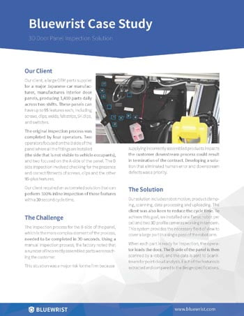 bluewrist case study automotive door panel inspection