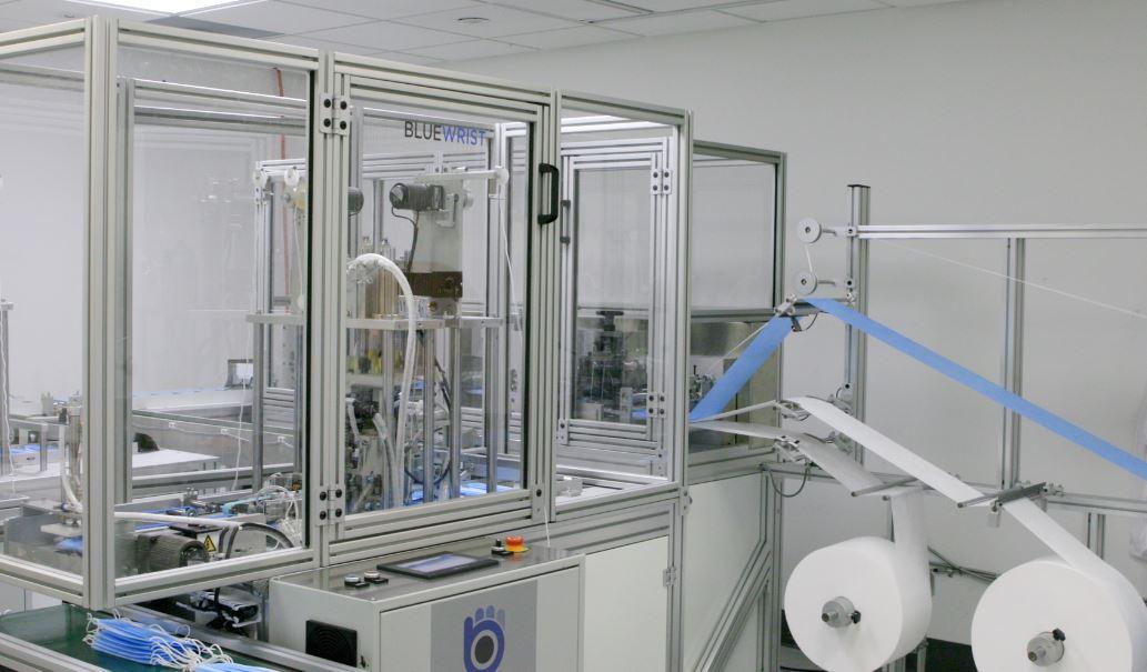 bluewrist-mask-production-machine-front
